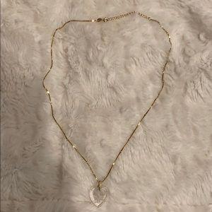 Vintage engraved heart necklace